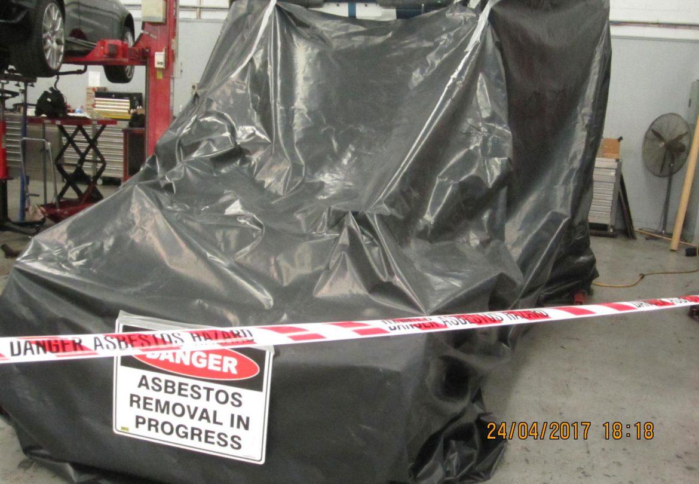Asbestos removal hazard