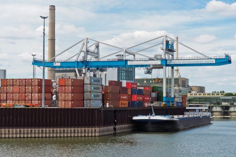 close-up of a cargo port