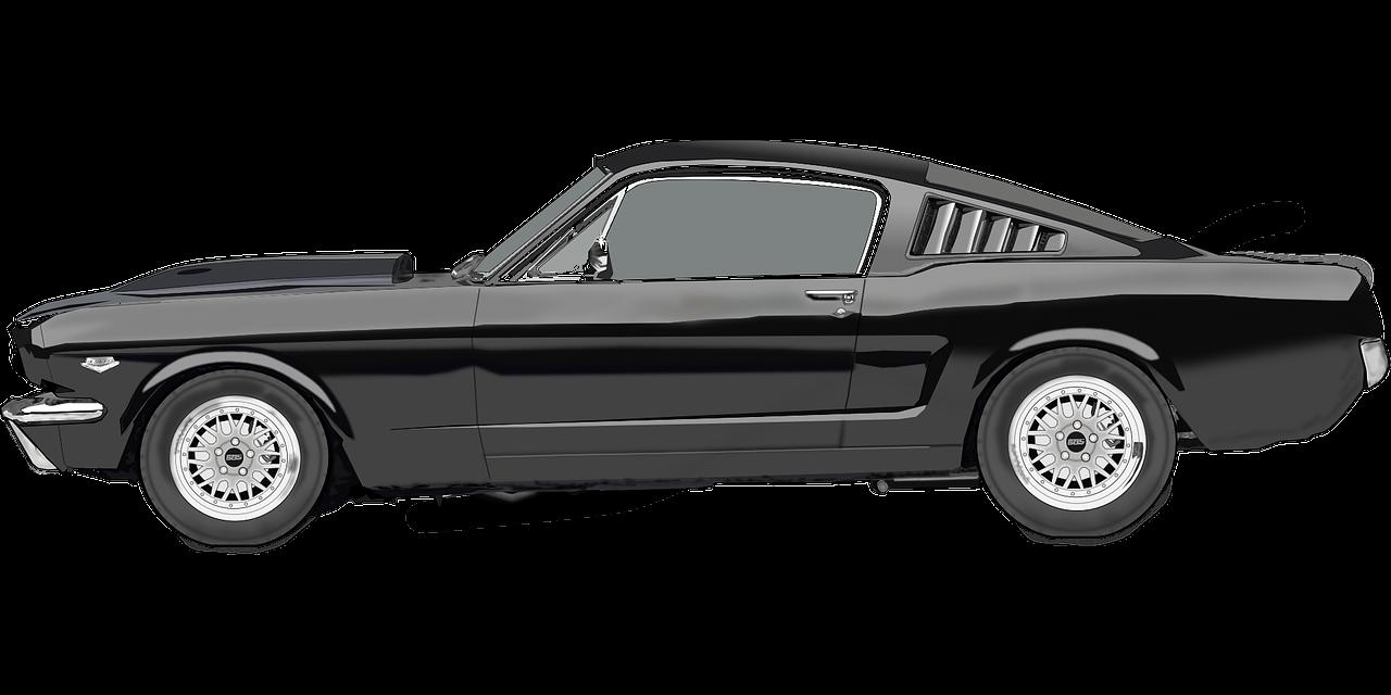 Black Mustang Car